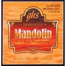 GHS PF250 SET, MANDOLIN, BR, BR, MD STRUNY