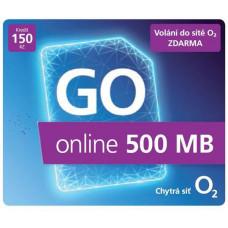 O2 Předplacený mobilní internet GO online 500MB
