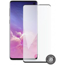 SKINZONE Screenshield SAMSUNG G973 Galaxy S10 Tempered Glass protection (black - CASE FRIENDLY)