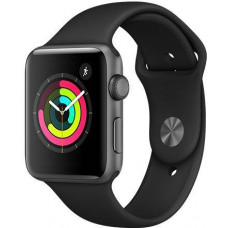 APPLE Watch S3, 42mm, Space Gr AC/Black Sport Band