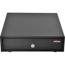 VIRTUOS Pokladní zásuvka mikro EK-300C - s kabelem, pořadač 3/4, 9-24V, černá