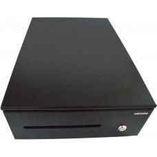 VIRTUOS Pokladní zásuvka SK-325C - s kabelem, pořadač 6/8, 9-24V, černá