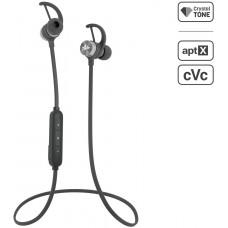 AUDICTUS Sportovní bezdrátové sluchátka do uší Audictus Adrenaline 2.0, BT 4.1, černo-stříbrné