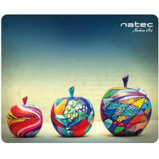 NATEC Podložka pod myš Natec Apples, černá, 220x180mm