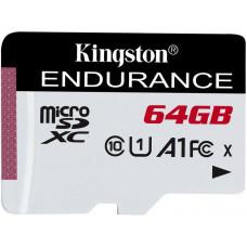 KINGSTON 64GB microSDXC Kingston Endurance CL10 A1 95R/45W bez adapteru
