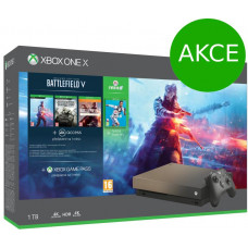 MICROSOFT AKCE: XBOX ONE X 1 TB + Battlefield V (Speciální edice) + FIFA 19 - akční cena (+ dárek: