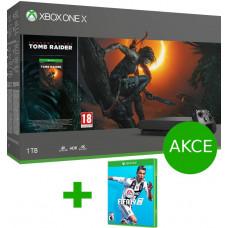 MICROSOFT XBOX ONE X 1 TB + Shadow of Tomb Raider + FIFA 19