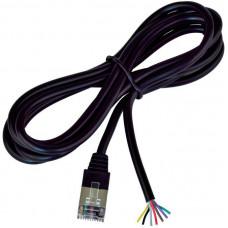 VIRTUOS Univerzální kabel bez konektoru pro výrobu k pokladním zásuvkám, černý