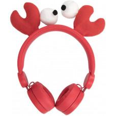 FOREVER Drátová sluchátka Forever AMH-100 3,5 mm mini jack s magnetickými prvky červená