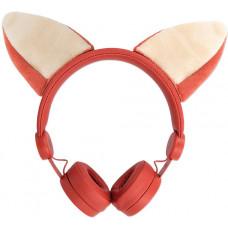 FOREVER Drátová sluchátka Forever AMH-100 3,5 mm mini jack s magnetickými prvky oranžová