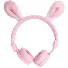 FOREVER Drátová sluchátka Forever AMH-100 3,5 mm mini jack s magnetickými prvky růžová