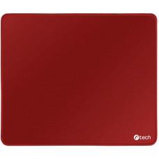 C-TECH Podložka pod myš C-TECH MP-01, červená, 320x270x4mm, obšité okraje