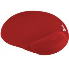 C-TECH Podložka pod myš gelová C-TECH MPG-03, červená, 240x220mm