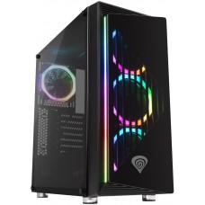 GENESIS Počítačová skříň Genesis IRID 400 RGB MIDI (USB 3.0), 4x ventilátory RGB s dálkovým