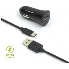 FIXED Autonabíječka FIXED, USB-C, 2,4A, černá