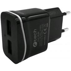 C-TECH Nabíječka USB C-TECH UC-02, 2x USB, 2,1A, černá