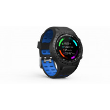 EVOLVEO SportWatch M1S, chytré sportovní hodinky s podporou SIM, modročerný pásek