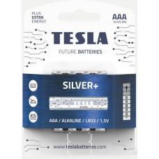 TESLA - baterie AAA SILVER+, 4 ks, LR03