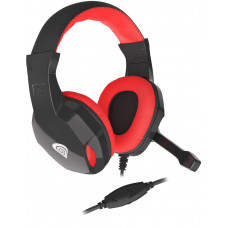 GENESIS Herní stereo sluchátka Genesis Argon 100,černo-červené, 1x jack 4-pin