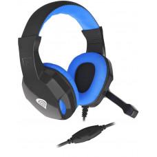 GENESIS Herní stereo sluchátka Genesis Argon 100, černo-modré, 1x jack 4-pin
