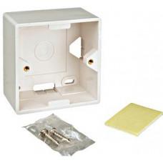SCHRACK Box na omítku pro zásuvky HSED0xUWxS, HSEDx2UWxF, RAL 9010