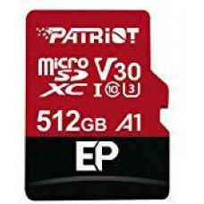 PATRIOT 512GB microSDXC Patriot V30 A1, class 10 U3 100/80MB/s + adapter