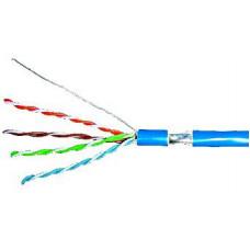 SCHRACK Kabel F/UTP Cat.5e 4x2xAWG24, LS0H plášt modrý, box 305m
