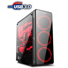 1stCool skříň GAMER 3, Full Tower, AU, USB 3.0, bez zdroje, Black