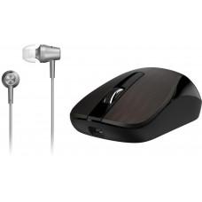 Genius myš MH-8015 bezdrátová dobíjecí + HEADSET ZDARMA/ čokoládová