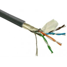 LYNX CS FTP kabel LYNX Cat5E, drát, venkovní PE, černý, 305m