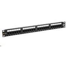 Solarix Patch panel 24 x RJ45 CAT5E UTP 150 MHz černý 1U SX24-5E-UTP-BK