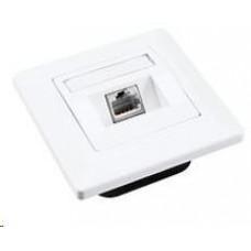 Solarix Zásuvka CAT6 STP 1 x RJ45 pod omítku bílá