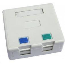 Lexi-NET Zásuvka neosazená 2x RJ45 na omítku
