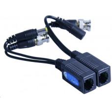 Hikvision TVI-209PV pár převodníků (balun) TurboHD (HD-TVI, Analog) na UTP vč. napájení, 2 kusy