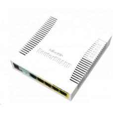 MikroTik RouterBOARD CSS106-1G-4P-1S (RB260GSP), TF470 CPU,nastavitelný switch, 5x LAN, 1xSFP slot