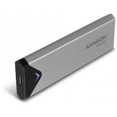 Axago  EEM2-U3C, USB-C 3.2 Gen 1 - M.2 SATA SSD kovový box, délka 42 až 80 mm