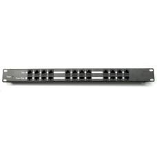 Triton POE injektor panel pasivní - 12 portů