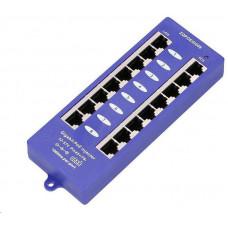 Triton POE injektor panel pasivní, gigabitový - 8 portů, stíněný, svorkovnice