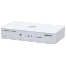 Manhattan 5-Port Gigabit Ethernet Switch, 5xRJ45 10/100/1000 Mbps Ports