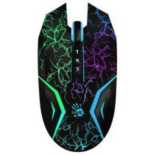 A4Tech BLOODY N50 Neon herní myš, USB, černá