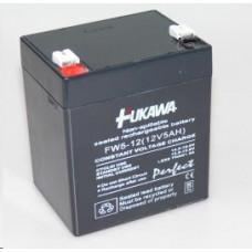 FUKAWA Baterie - FUKAWA FW 5-12 U (12V/5Ah - Faston 250), životnost 5let