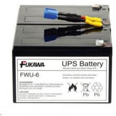 FUKAWA Baterie - FUKAWA FWU-6 náhradní baterie za RBC6 (12V/12Ah, Faston 250), životnost 3-5let