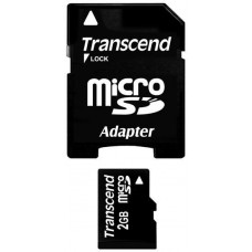 Transcend MicroSD karta 2GB + adaptér