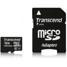 Transcend Micro SDHC Class 10 UHS-I 600x, MLC, 16GB (Ultimate) + adaptér