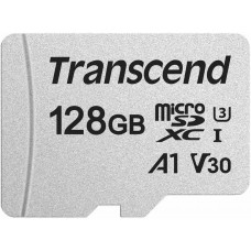 Transcend Micro SDXC 300S 128GB UHS-I U3 V30, s adaptérem