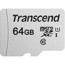 Transcend Micro SDXC 300S 64GB UHS-I U1, s adaptérem