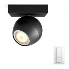 Philips BUCKRAM Bodové svítidlo, Hue White ambiance, 230V, 1x5.5W GU10, Černá