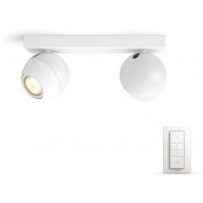 Philips BUCKRAM Bodové svítidlo, Hue White ambiance, 230V, 2x5.5W GU10, Bílá