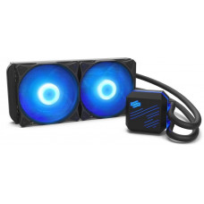 SilentiumPC vodní chladič Navis RGB 240 AiO / 2x120mm fan / 22dBA / pro AM3, AM4, LGA 2066, 2011