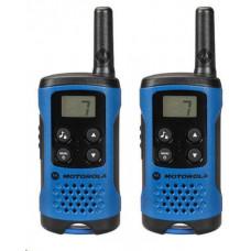 Motorola vysílačka TLKR T41 (2 ks, dosah až 4 km), modrá